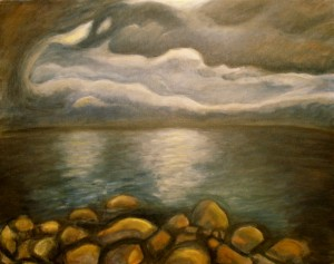 Storm Over Lake Tahoe Painting