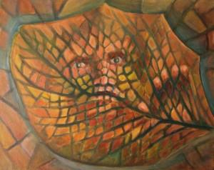 Leaf - by Jason T. Campbell - acrylic on canvas