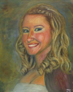 A Portrait of Crystal by Jason Campbell - fine art acrylic painting