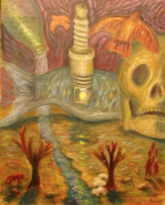 """""""The Fall"""" by Jason Campbell - acrylic on canvas painting"""