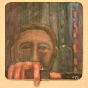 """""""A Finger in Reality"""" fine art painting by Jason Campbell"""