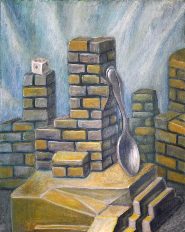 """""""The Silver Spoon"""" by Jason Campbell - fine art painting - acrylic on canvas"""