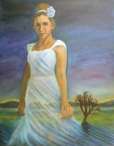 """Lady of the Lake"" by Jason T. Campbell - fine art painting - acrylic on canvas"