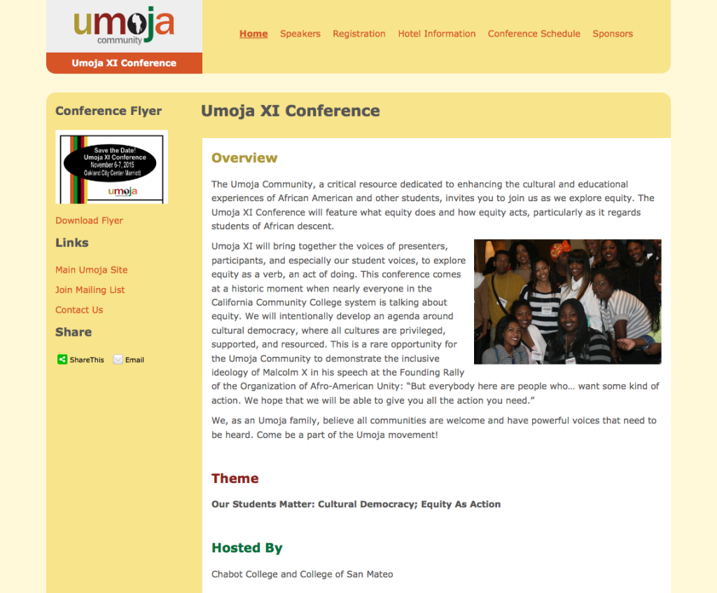 Umoja Conference Site screenshot