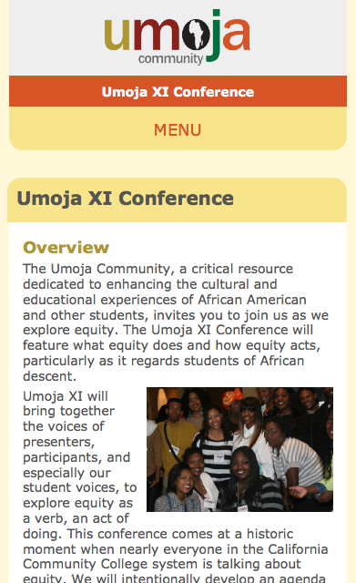 Umoja Conference Site Mobile screenshot