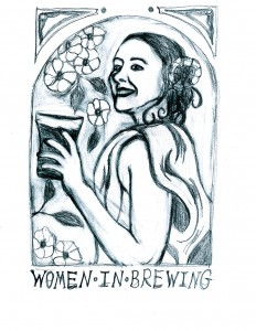Women In Brewing rough sketch