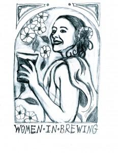 Women In Brewing rough sketch