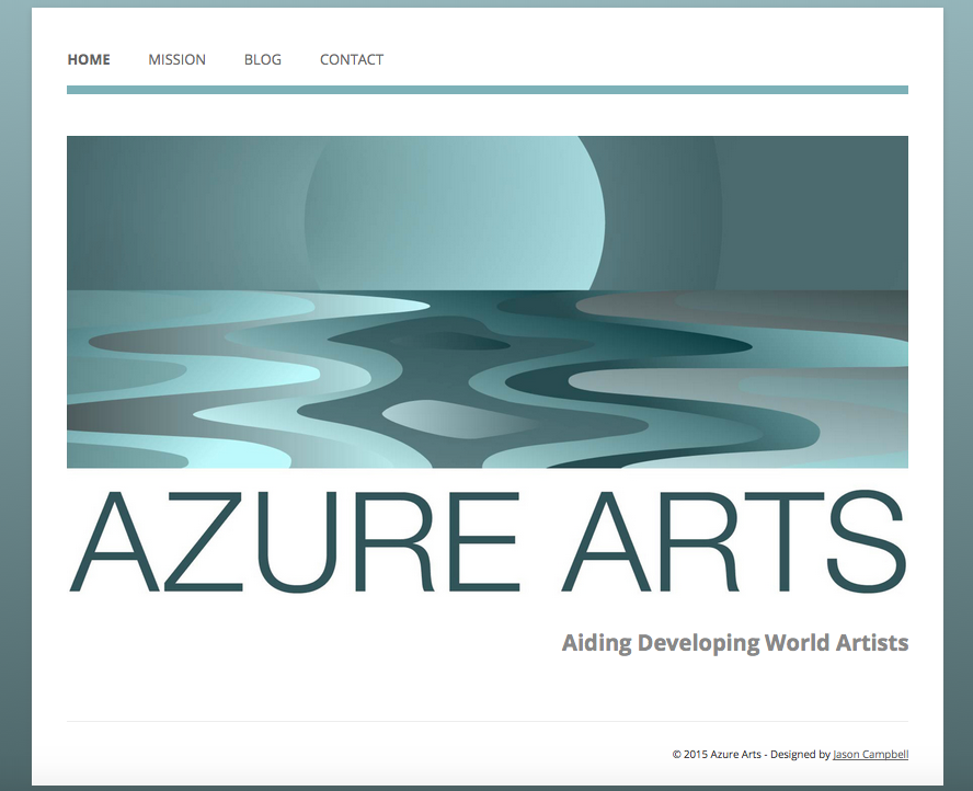 azure arts web site