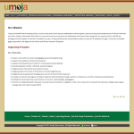 Umoja Website Screen Shot - About Us Page