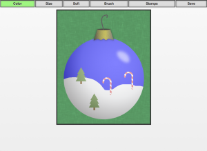 HTML5 Christmas Ornament Design App