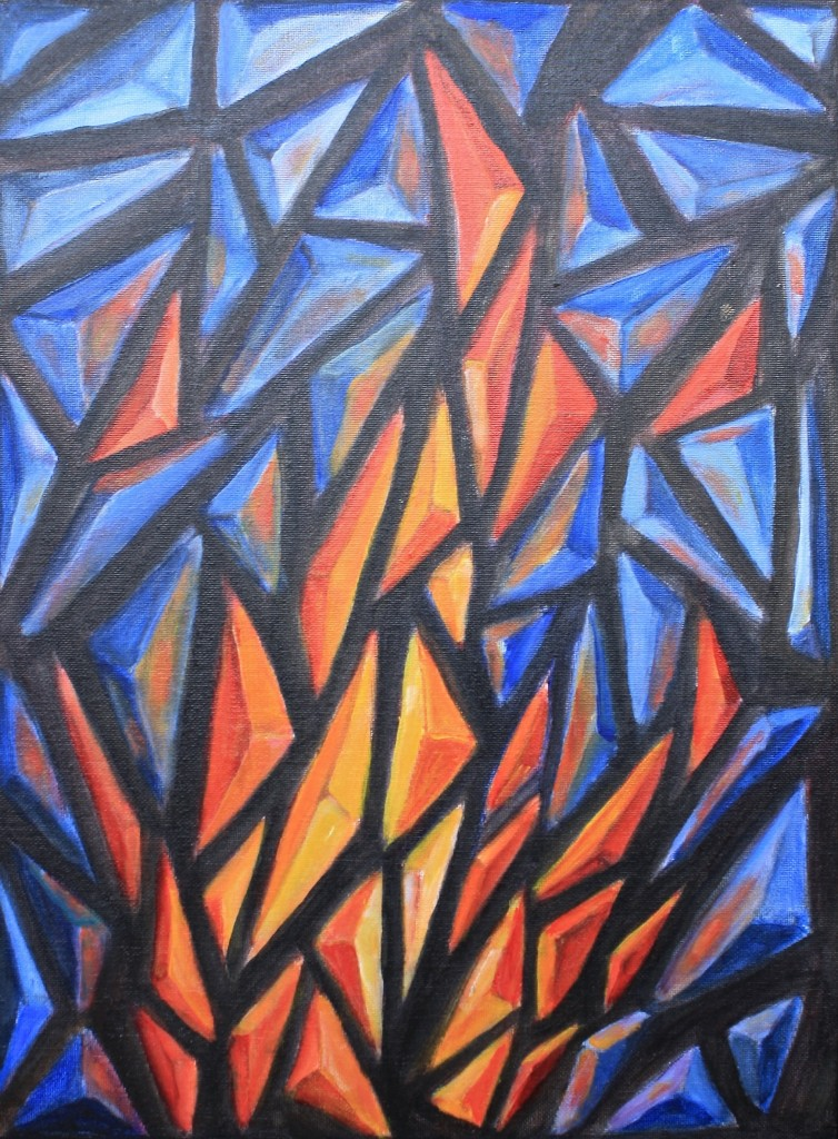 Anchient Flame by Jason Campbell - Acrylic on Canvas