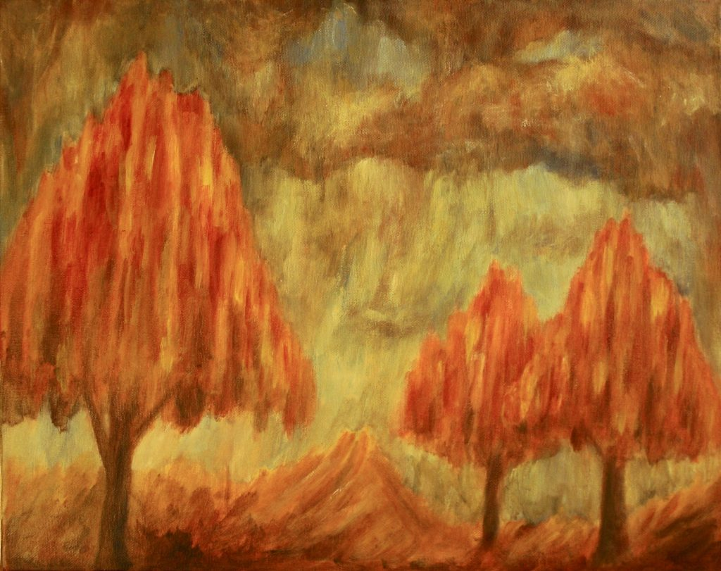 Fall Landscape Painting by Jason Campbell
