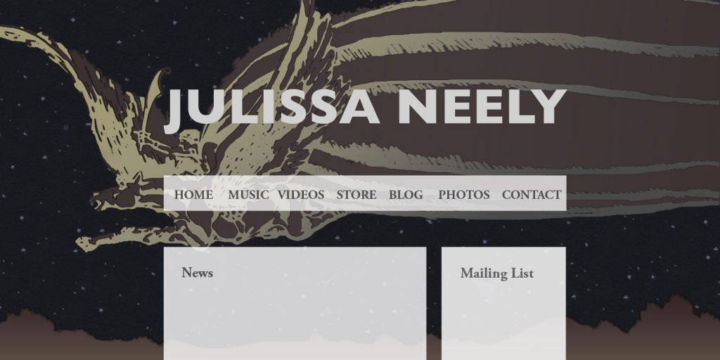 Musician Website Mock Up