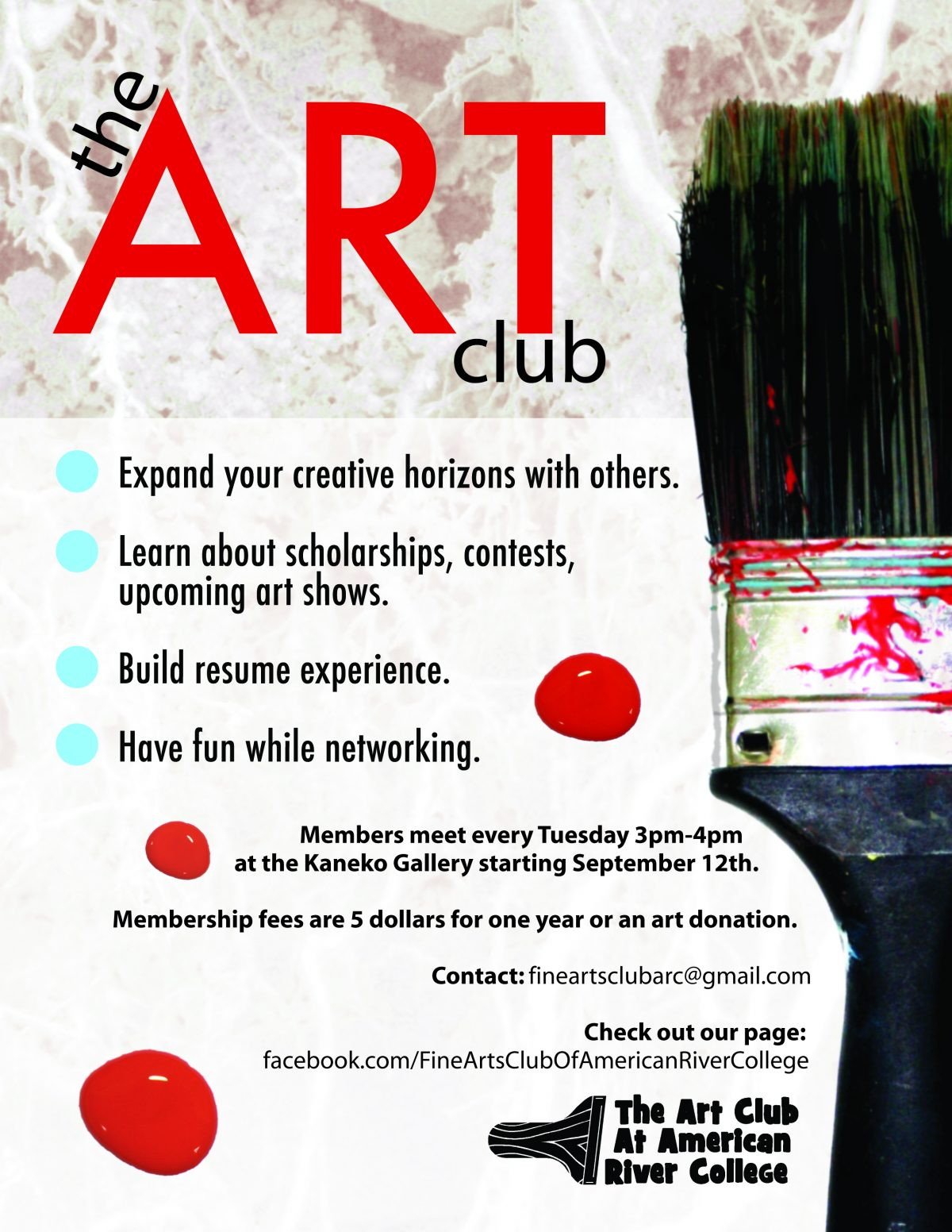 ARC Art Club Poster Design