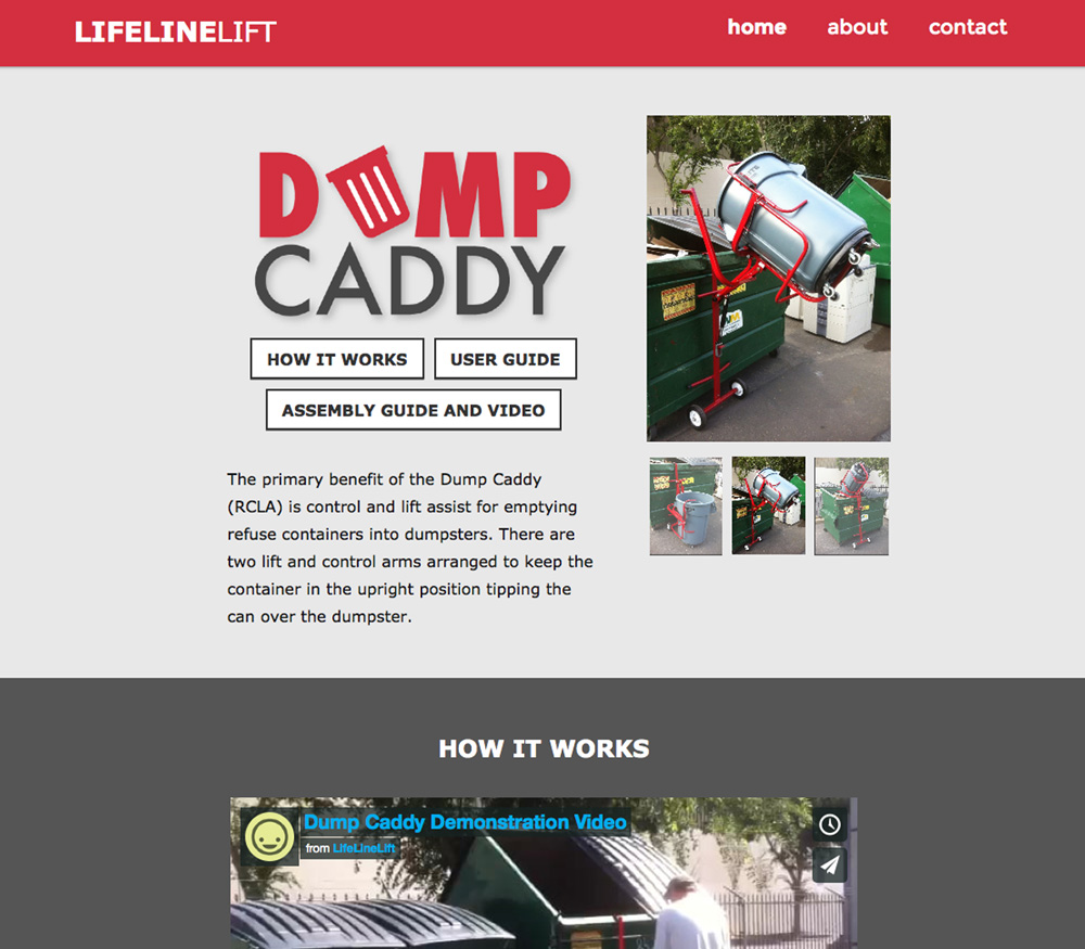 Dump Caddy Website Mock Up