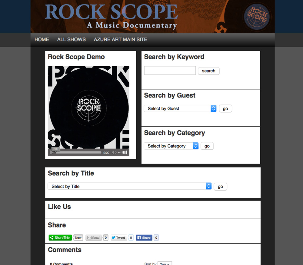 Rock Scope Website Design