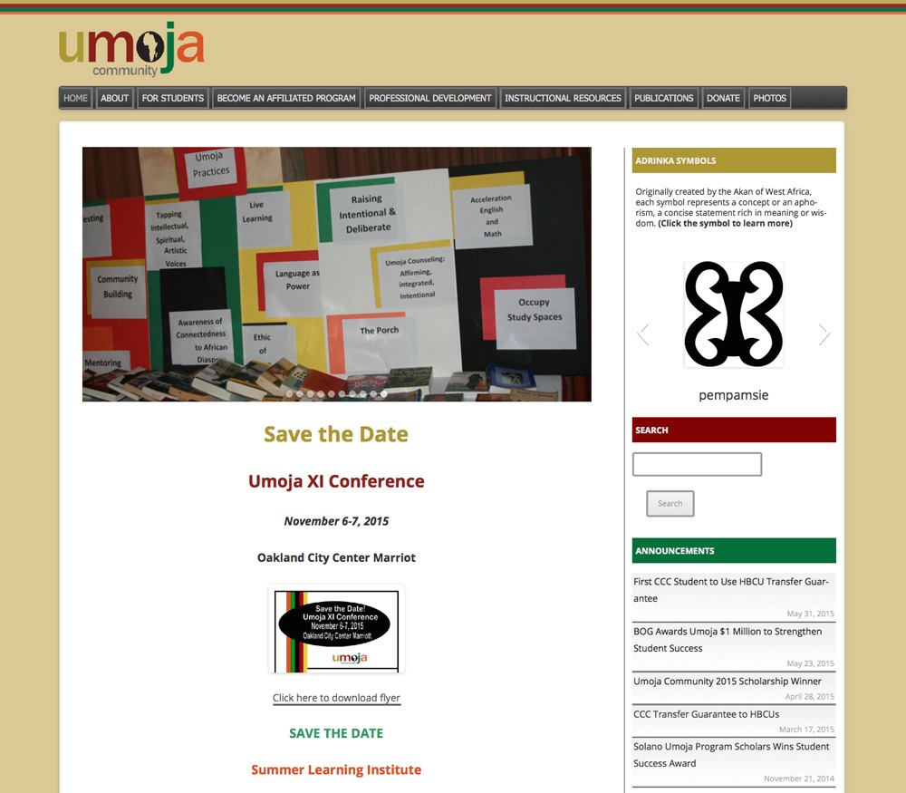 Umoja Community Website