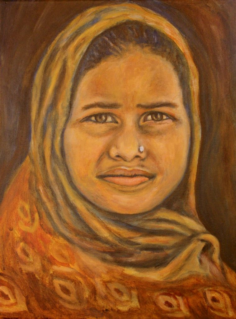Mushar Girl Painting by Jason Campbell