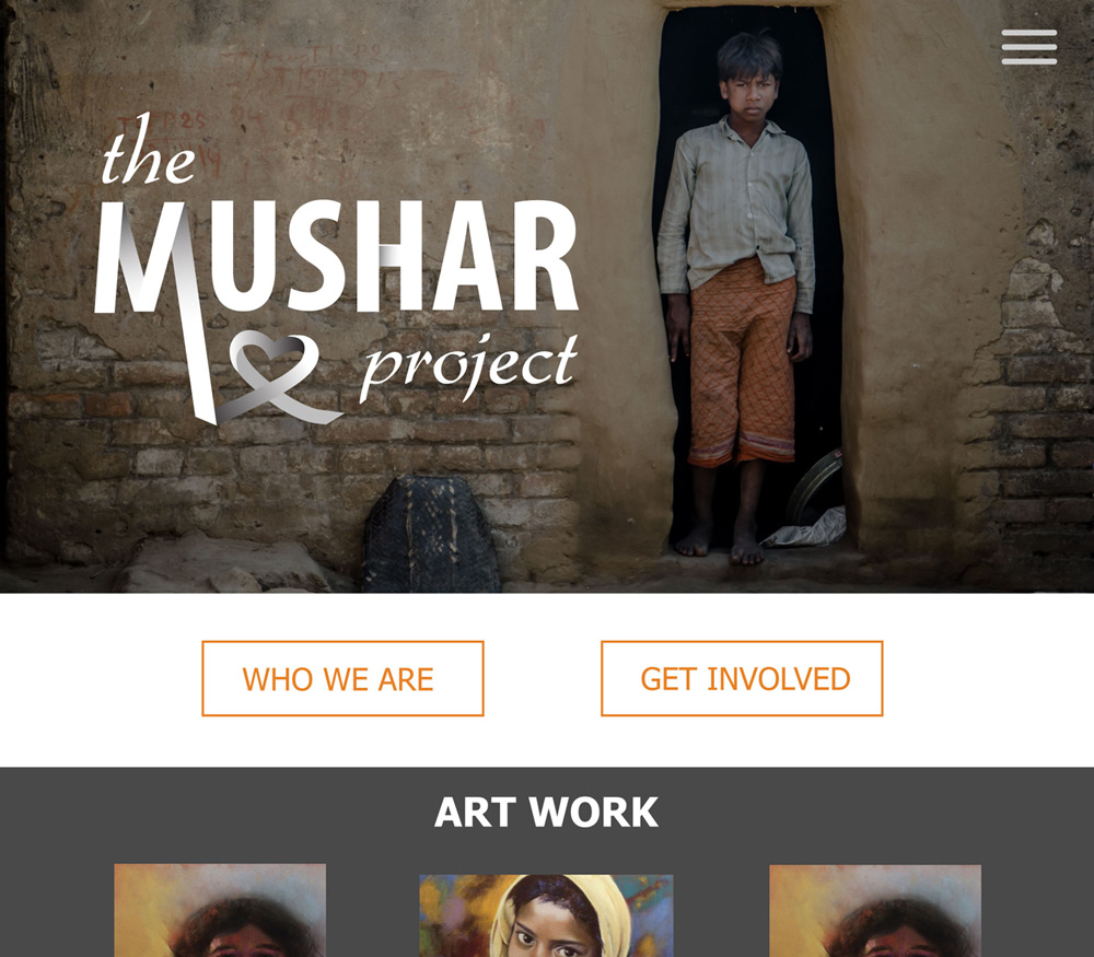 Mushar Project Website Design