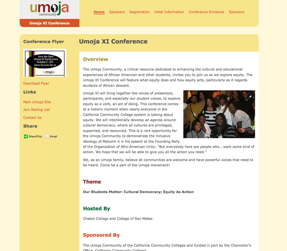 Umoja Conference Website Design
